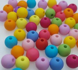 Mix van 100 Gekleurde Kralen 8mm