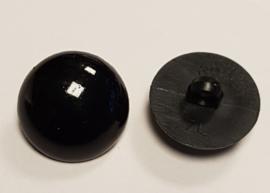 Zwarte Half Ronde Ogen Knoopjes 20mm