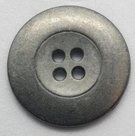 Grijs Metalen Knoop 22mm