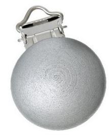 Houten Speenclip Zilver Grijs