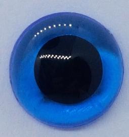 Veiligheidsogen doorzichtig blauw 12mm (2 stuks)