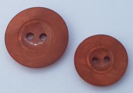 Oranje Bruine Knoop 20 & 25 mm