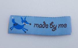 Licht Blauwe Labels Made by Me & Vos 5,5x2cm (5 stuks)
