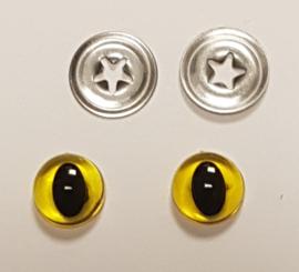 Gele Kwaliteits Kattenogen 9mm