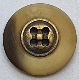 Knoop met Goudkleurige binnenkant 22mm