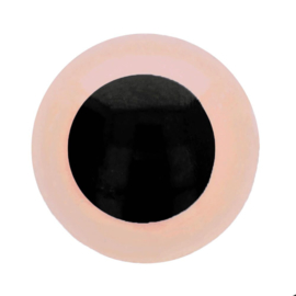 Veiligheidsogen Licht Roze 6mm (2 stuks)