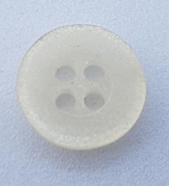 Witte Knoop met 4 gaatjes 13 mm