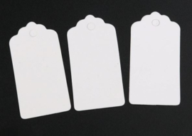 50 Witte Prijskaartjes 40x20 mm