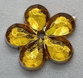 Gele Bloemen Pailletten 16mm