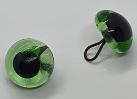 Groene Glazen Amigurumi & Beren Ogen 11mm (2 stuks)