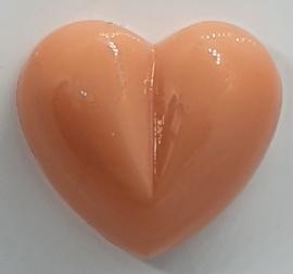 Veiligheidsneus Zalm Roze Hartje 13 mm