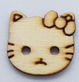 Hello Kitty Poezen Knoop 17mm