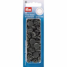 Prym Drukknopen 12,4 mm  Donker Grijs
