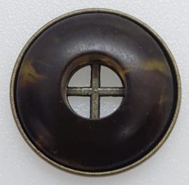 Bruine & Bronskleurige Knoop 22mm