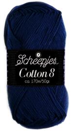 Scheepjes Cotton 8 nr 527 Marine Blauw