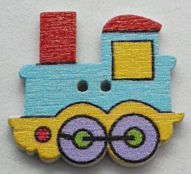 Trein Knopen  Blauw Geel