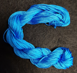 Nylon Koord 1mm - Pauw Blauw - 22 Meter