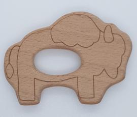 Houten Bijtring - Bison