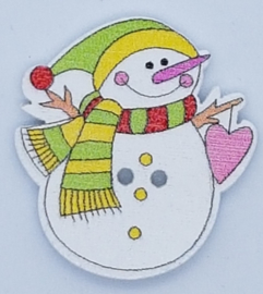 Kerst Knoop Sneeuwpop
