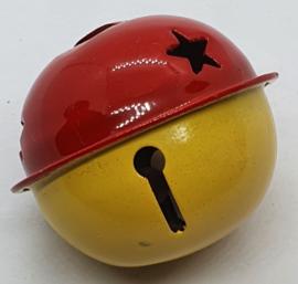 Gekleurde Bellen met Sterren Rood Geel 40mm