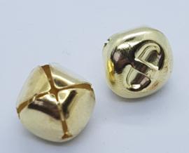 Goudkleurige Belletjes Bel 16mm (5 stuks)