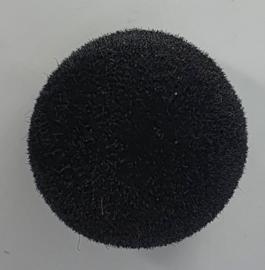 Veiligheidsneus Rond Zwart Velours 15mm