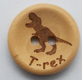 Blank Houten Knoop T-Rex 20mm