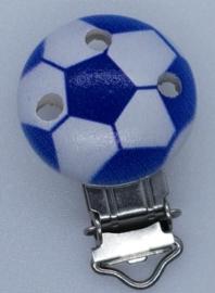 Houten Speenclip Voetbal Donker Blauw