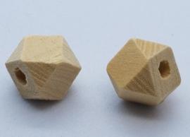 Blank Houten Hexagon Kraal 10mm
