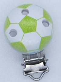 Houten Speenclip Voetbal Licht Groen