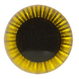 Veiligheids Uilen Ogen Geel 10mm (2 stuks)