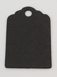 100 Zwarte Prijskaartjes 30x20 mm