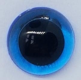 Veiligheidsogen Doorzichtig Blauw 6mm  (2 stuks)