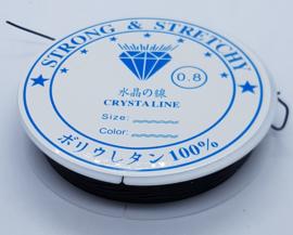 Elastiek 0,8 mm Zwart (8-9 Meter)