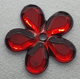 Rode Bloemen Pailletten 12mm