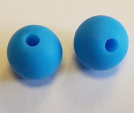 Sky Blauwe Silicone Kralen 9mm (5 Stuks)