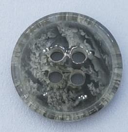 Grijs Witte Knoop 15mm