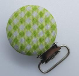 Speenclips Groen Geruit