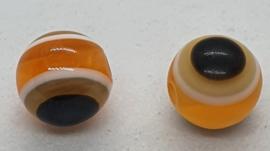 Boze oog kralen 8mm Oranje