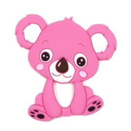 Siliconen Bijtring - Koala Donker Roze