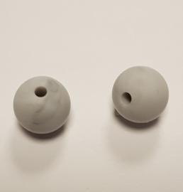 Grijs Gemeleerde Silicone Kraal Kralen 12mm (5 Stuks)