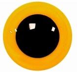 Veiligheidsogen Geel 15mm (2 stuks)
