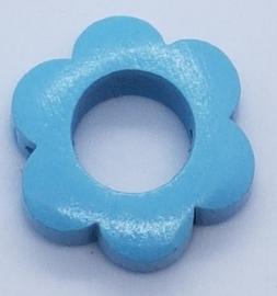 Bloemetjes Kraal Licht Blauw 26mm