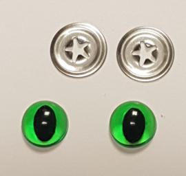 Groene Kwaliteits Kattenogen 9mm