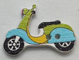 Scooter Knopen  Blauw Groen