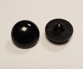 Zwarte Half Ronde Ogen Knoopjes 17mm