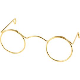 Bril voor Knuffels Goud 6cm