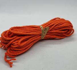 Wax koord 3mm Oranje
