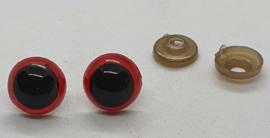 Veiligheidsogen Rood 14mm (2 stuks)