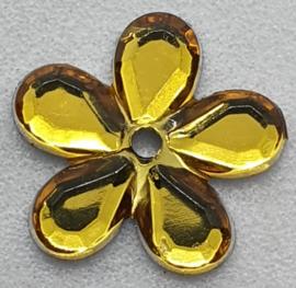 Gele Bloemen Pailletten 12mm